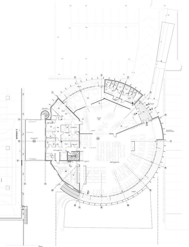 Plan Restaurant Longjumeau de 2016 Dupont Nicolay Architectes Ingénierie