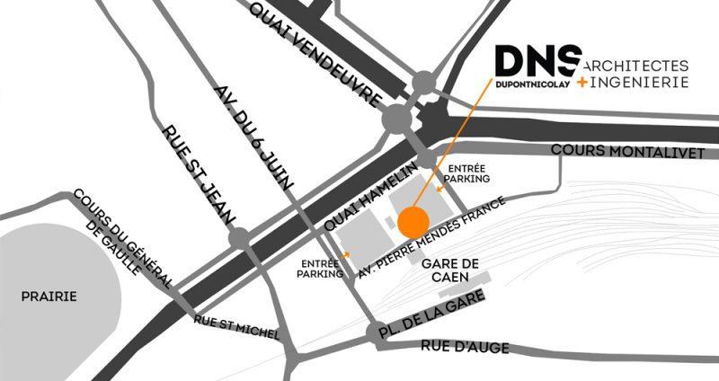 DNS Architectes Plan Agence Caen