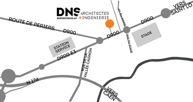 DNS Architectes Plan Agence Saint Lô