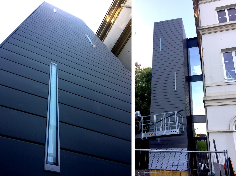 Construction d'un ascenseur par Dupont Nicolay Architectes Ingénierie